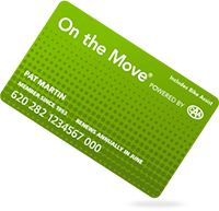 On the move card